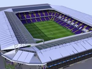 南から見たスタジアム